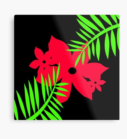 Big Red Bloom by Julie  Everhart Metal Print