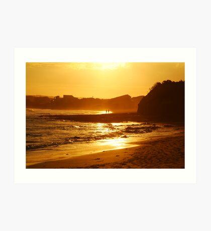 Sunset, Torquay Surf Beach,Great Ocean Road Art Print