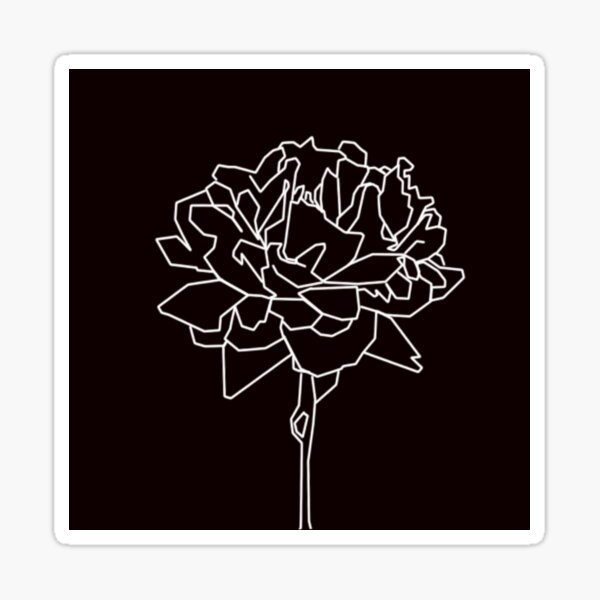 geometric blossom Sticker