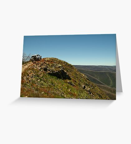 Perched,Blue Rag Range,Victorian High Country Greeting Card