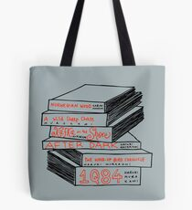Haruki Murakami Book Stack Tote Bag
