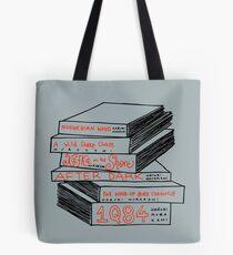 Haruki Murakami Book Stack Tote Bag