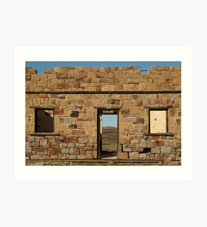North Peake Ruins,Old Ghan Railway Art Print