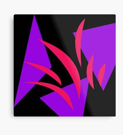 Hot Pink and Purple by Julie Everhart Metal Print