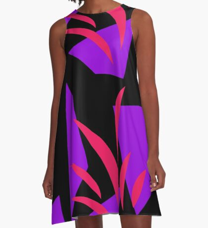 Hot Pink and Purple by Julie Everhart A-Line Dress