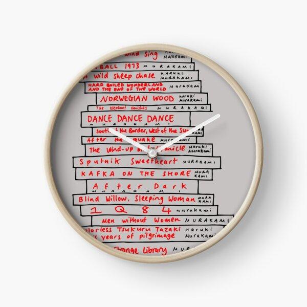 Haruki Murakami Book Fan Clock