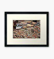 Old tiled roofs Framed Print