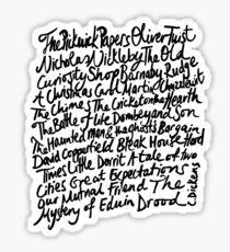 Charles Dickens Novels Sticker