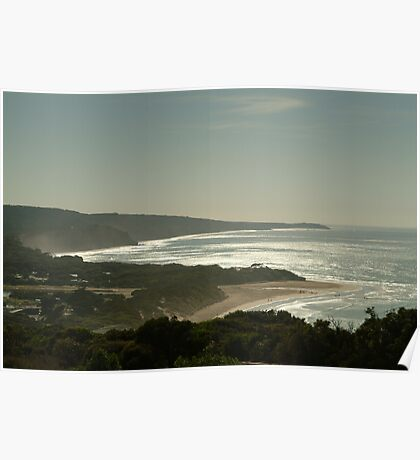 Harsh Light Anglesea,Great Ocean Road Poster