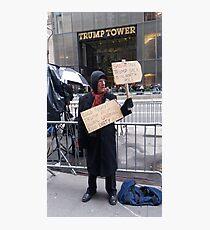 Trump Protester Photographic Print