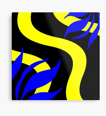 Royal Blue and Yellow by Julie Everhart Metal Print