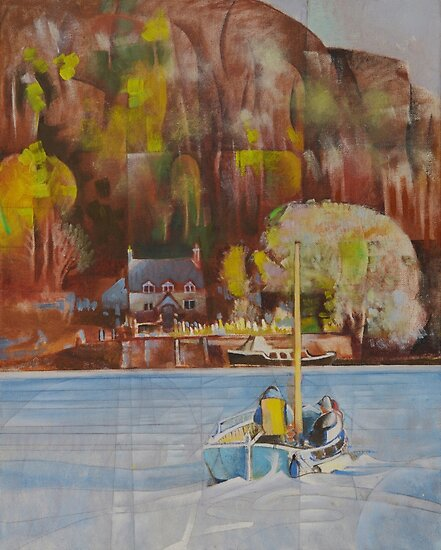 Dittisham Ferry by Bernard Barnes