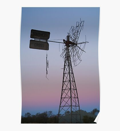 Windmill, Mt Dare Station,Outback Australia Poster