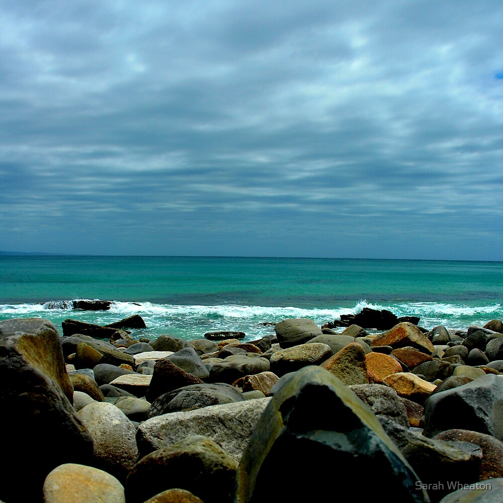 rocky beach by Sarah Wheaton