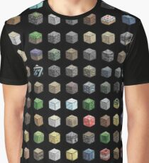 100 Minecraft Blocks Graphic T-Shirt
