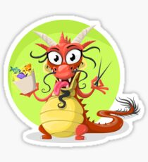 Funny chinese dragon Sticker