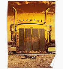 Sunset Peterbilt Poster