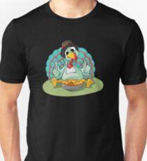 Turkey eating pie Unisex T-Shirt