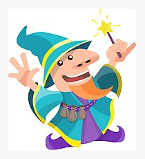 Funny wizard Photographic Print