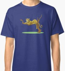 Cute leopard relaxing in the tree Classic T-Shirt
