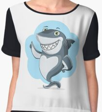 Cute shark Chiffon Top