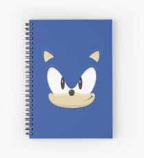 Sonic the hedgehog face Spiral Notebook