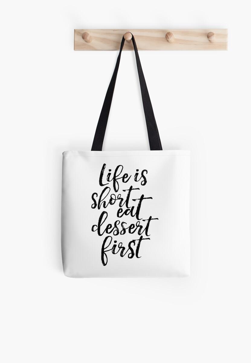 Das Leben ist kurz Essen Dessert zuerst, lustige Poster, Küche ...