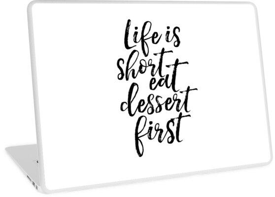 Poster für die küche  Das Leben ist kurz Essen Dessert zuerst, lustige Poster, Küche ...