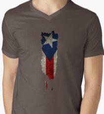 Puerto Rico Flag / Map Men's V-Neck T-Shirt