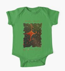 CUTE TWINKLE TWINKLE LITTLE STAR SPACE ART Short Sleeve Baby One-Piece