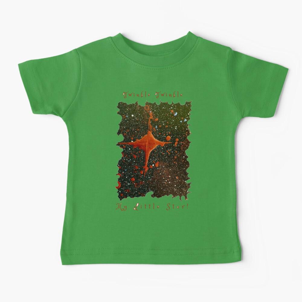 CUTE TWINKLE TWINKLE LITTLE STAR SPACE ART Baby T-Shirt