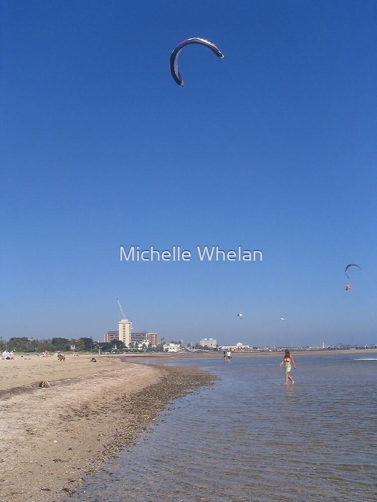 kite surfing by Michelle Whelan