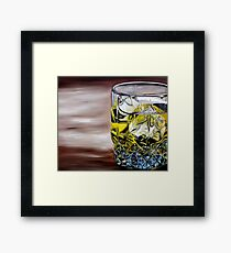Scotch on the Rocks Framed Print