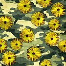 Dahlias in camouflage suit by Adarve  Photocollage
