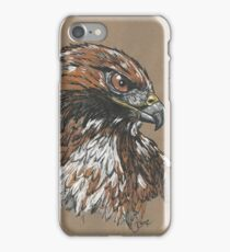 Red Tailed Hawk - The Hurried Hawk iPhone Case/Skin