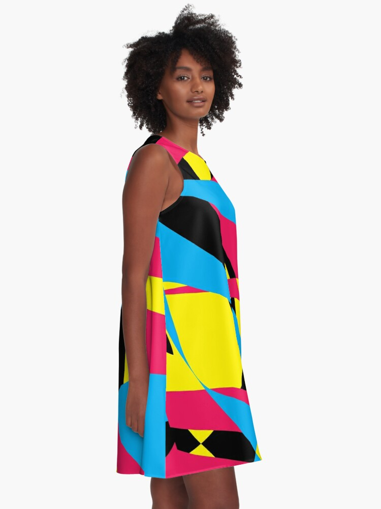 Alternate view of Tri Color Fashion by Julie Everhart A-Line Dress
