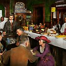 Cafe - Temptations 1915 by Mike  Savad
