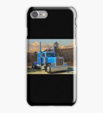 Blue peterbilt conventional. iPhone Case/Skin