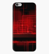 Red Techno Circuit Lines iPhone Case