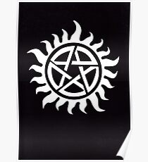 Supernatural Demon Possession Protection [WHITE] Poster