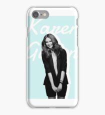Karen Gillan blue iPhone Case/Skin