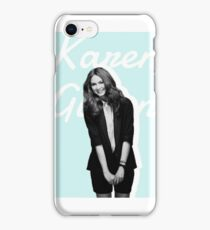 Karen Gillan blue iPhone Case/Skin