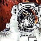 Martian Astronaut Space Art Alternative by Jim Plaxco