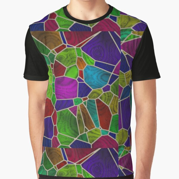 Stained Glass Design by Julie Everhart Graphic T-Shirt