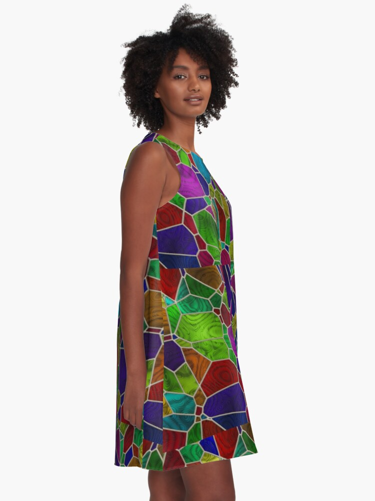 Alternate view of Stained Glass Design by Julie Everhart A-Line Dress