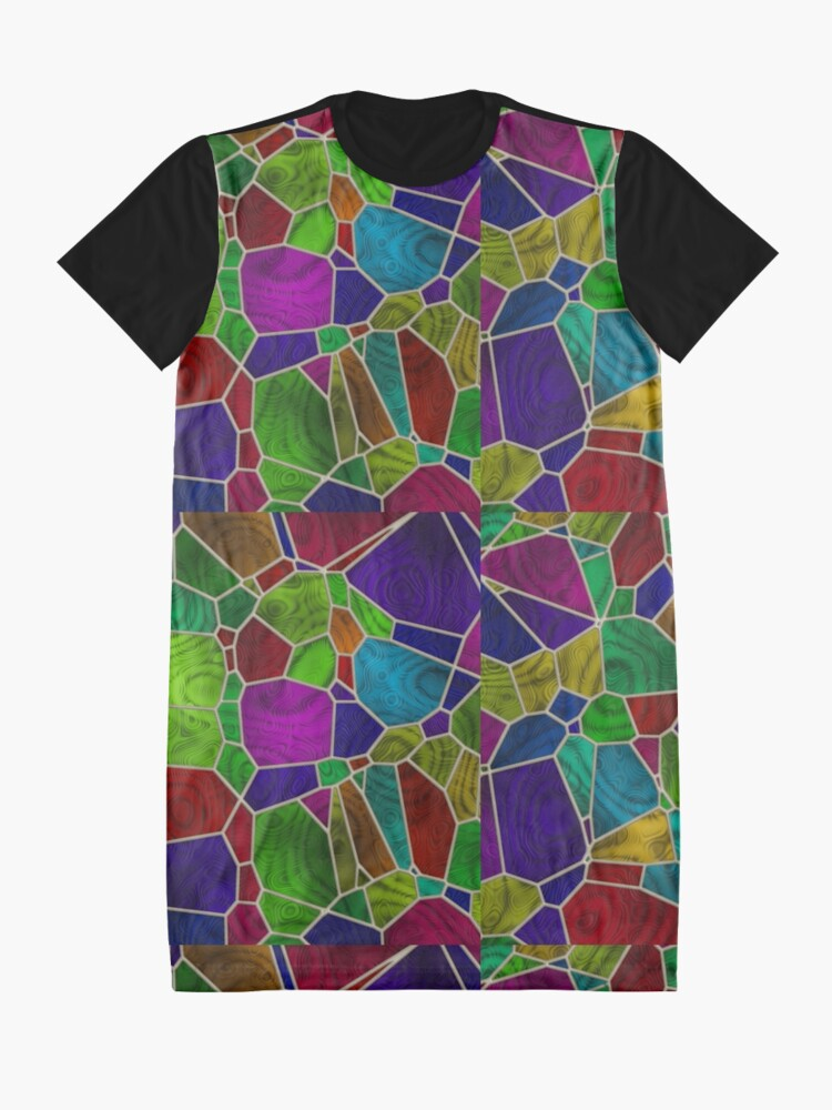 Alternate view of Stained Glass Design by Julie Everhart Graphic T-Shirt Dress
