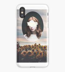 Karen Gillan flowers iPhone Case