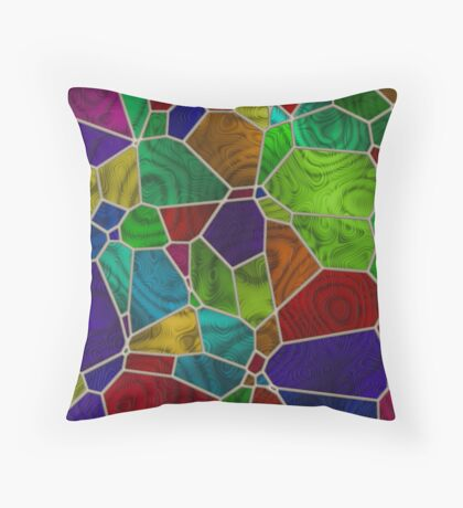 Stained Glass Design by Julie Everhart Throw Pillow