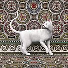 A cat on the mosaic by Roberta Angiolani