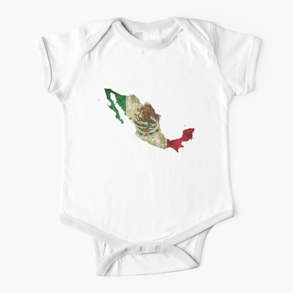Mexico Eagle Flag Smalls Baby Onesie,Infant Bodysuit Black